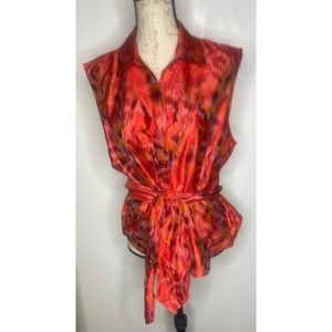Gorgeous Silk Blouse w/Tie by Coldwater Creek